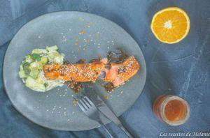 Recette Saumon au miel et à l'orange
