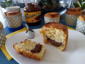 Recette Muffins au cœur de pâte à tartiner