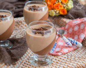 Recette Duo de mahalabiya (mouhalabia) au chocolat et caramel