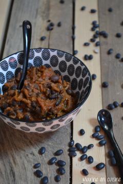 Recette Chili con carne aux haricots noirs