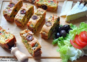 """Recette Cake aux légumes """"poivrons, courgette"""""""