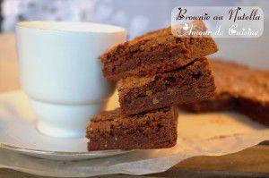 Recette Brownie a la Nutella, ou brownie au Nutella