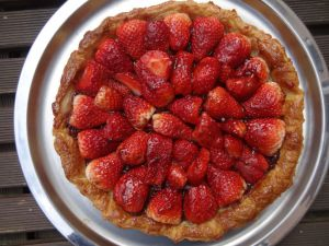Recette Tarte aux fraises et confiture de fraises