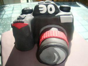 Recette Gâteau appareil photo en pâte à sucre