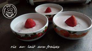 Recette Riz au lait aux fraises au thermomix