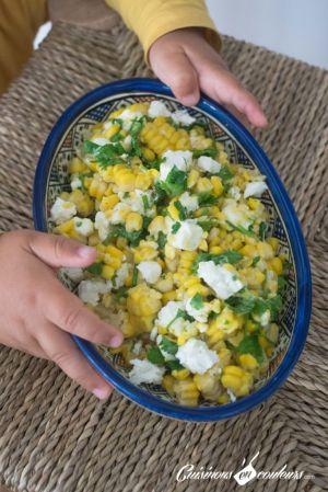 Recette Salade de maïs à la feta et à la coriandre