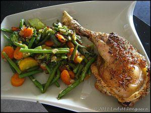 Recette Cuisses de poulet au four