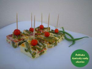 Recette Frittata aux haricots verts et chorizo (au four)