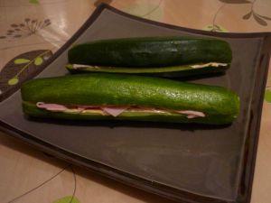 Recette Courgettes au jambon