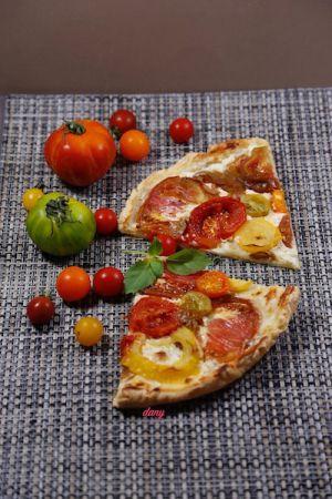 Recette Tarte fine aux tomates anciennes et ricotta