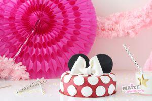 Recette Gateau d'anniversaire Minnie trop facile & pâte à sucre Vahiné
