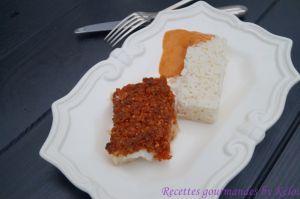 Recette Cabillaud en crumble de chorizo, sauce au poivron
