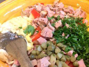 Recette Salades en plat complet