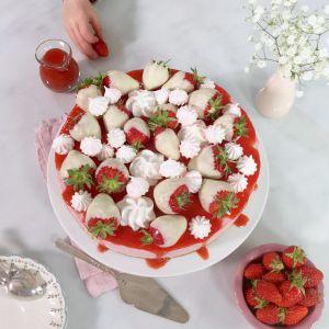 Recette Bonne fête maman – Cheesecake aux fraises sans cuisson