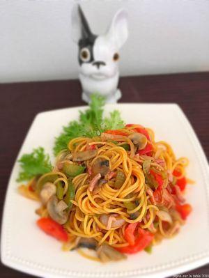 Recette Spaghetti à la napolitaine スパゲッティナポリタン