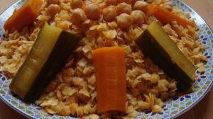 Recette Trida ( petit carré de pate en sauce)