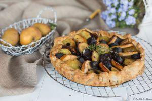 Recette Tarte rustique au boudin noir et aux deux pommes