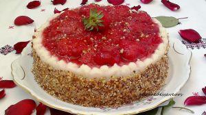 Recette Entremets aux fraises et amandes