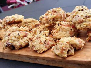 Recette Cookies salés bacon / noisette