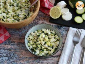 Recette Salade de courgettes, chèvre et citron