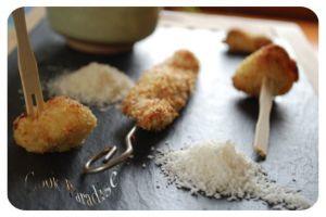 Recette Petites brochettes de poulet & nuggets au panko