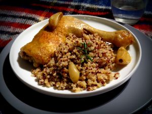 Recette Cuisses de poulet à l'ail