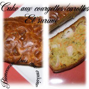 Recette Cake aux courgettes carottes et surimi
