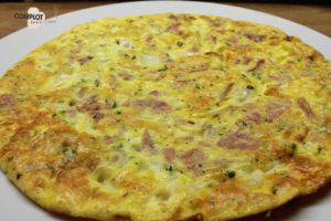 Recette Frittata jambon et mozzarella - Culino Versions