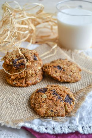 Recette Cookies au beurre de cacahuètes et chocolat noir (vegan & sans gluten)