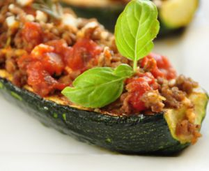 Recette Courgettes farcies COOKEO
