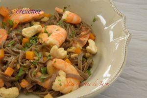 Recette Nouilles soba aux crevettes