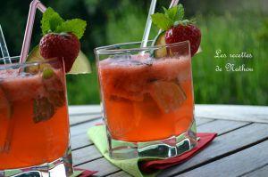 Recette Mojito à la fraise (avec des vraies fraises !)