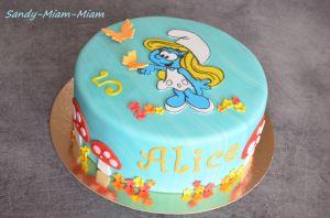 Recette Gâteau pâte à sucre Schtroumpfette