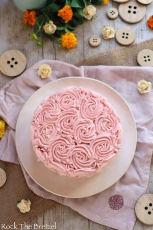 Recette Rose cake à la framboise