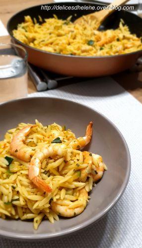Recette Pates aux crevettes safranees (ww)