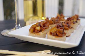 Recette Bouchées de boudin blanc aux pommes