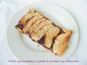 Recette Tarte aux pommes et pâte à tartiner au chocolat