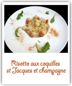 Recette Risotto de coquilles st Jacques au champagne