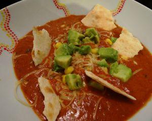 """Recette """"Tortilla soup"""", une soupe d'inspiration... américaine"""