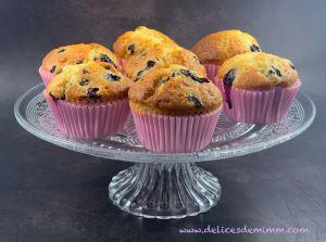 Recette Muffins aux myrtilles et tonka