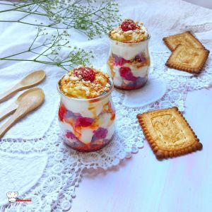Recette Verrines Framboises Caramel et Crème Citron Mascarpone