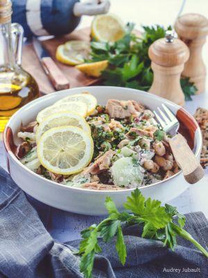 Recette Salade de pois chiches, concombre et thon