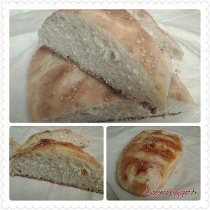 Recette Pain au lben - pain au lait fermente - pain sans petrissage