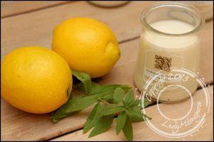 Recette Yaourts maison verveine/citron