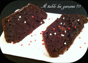 Recette Cake chocolat courgettes