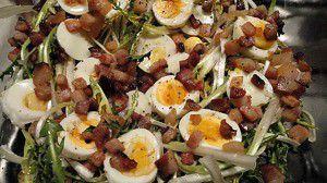 Recette Salade de pissenlits