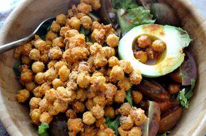 Recette Salade d'avocat et pois chiches grillés