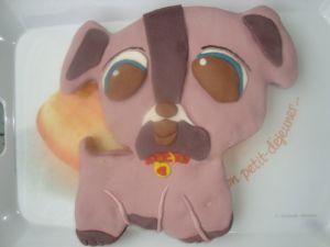 Recette Gâteau Petshop chien en pâte à sucre