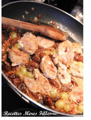 Recette Porc : Filet mignon de porc aux figues et raisins