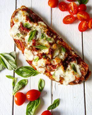 Recette Mes tartines tomate/mozza